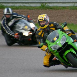 Rockingham my brother showing off getting his peg down aswell as his knee
